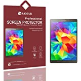 SAMAR® - Supreme Quality New Samsung Galaxy Tab S 10.5 inch Tablet (Released July 2014) Crystal Clear Screen Protectors (3 in Pack) - Includes Microfiber Cleaning Cloth