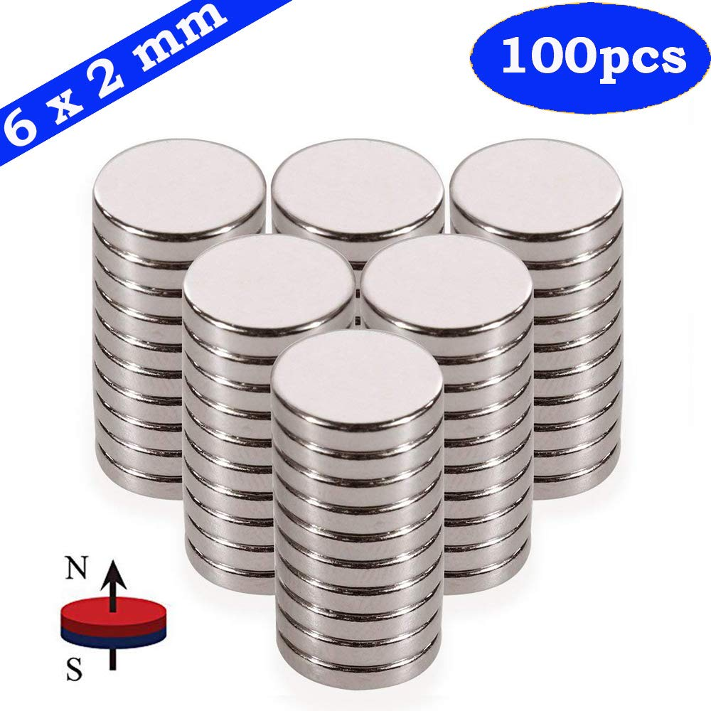 Fridge Magnets, JTS 100PCS 6x2MM Small Magnets Refrigerator for DIY Magnets, Office Magnets