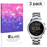 BECEMURU Fossil Q Explorist Gen 3 Screen Protector 9H Full Coverage Screen Tempered Glass Protector for Fossil Q Explorist Gen 3 Smartwatch(3 Pack)