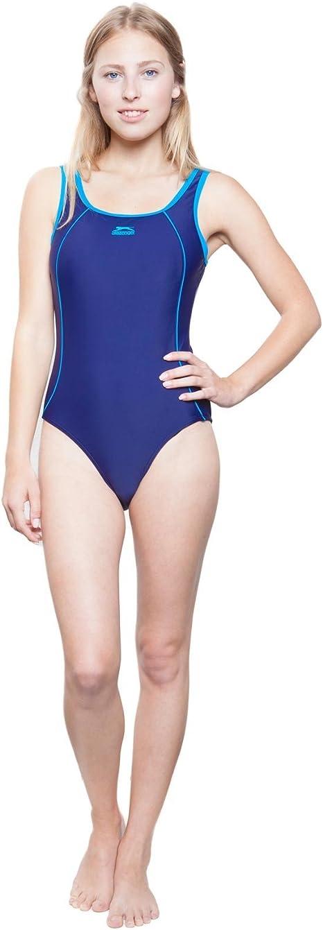 Slazenger Schwimmanzug Mädchen Badeanzug Schwimmen Swimming Basic 3127
