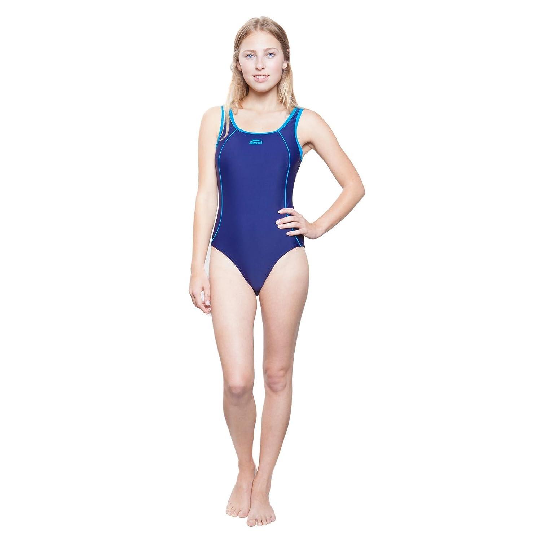 11-12 Jahre Slazenger Mädchen Badeanzug in der Farbe : lila/türkis