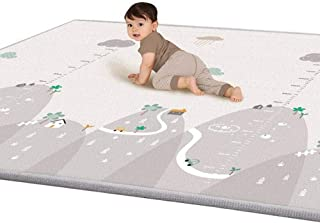 Children Play Mat,Baby Crawling Mat for Kid Toddler Crawl Playmat Infant Blanket,Anti-Skid Waterproof LDPE Plastic Floor Mat for 2-36 Month(200 x 180cm) (B)