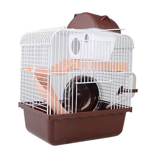 TIKEN Hamster Jaula 2 Pisos Piso Casa De Hámster con Disco ...