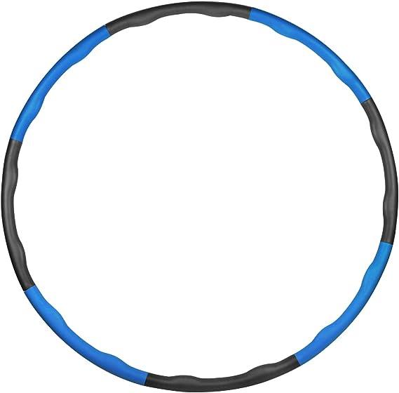 TOT Fitnessreifen f/ür Erwachsene Gewichteter Hula Hoop mit 21 Abschnitt Abnehmbares Design und 360 Grad Rotierende Stille Achse f/ür Gewicht zu reduzieren und lindert Meridiane