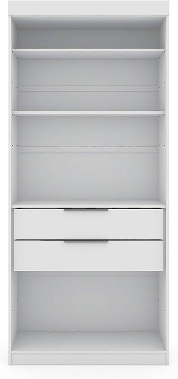 Manhattan Comfort Open Corner Closet in White