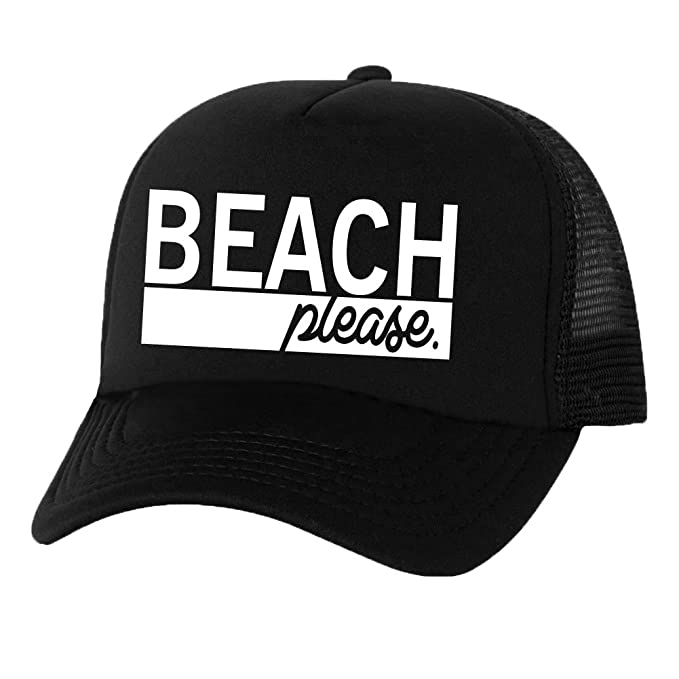 3534e3b2254 Beach Please Truckers Mesh snapback hat