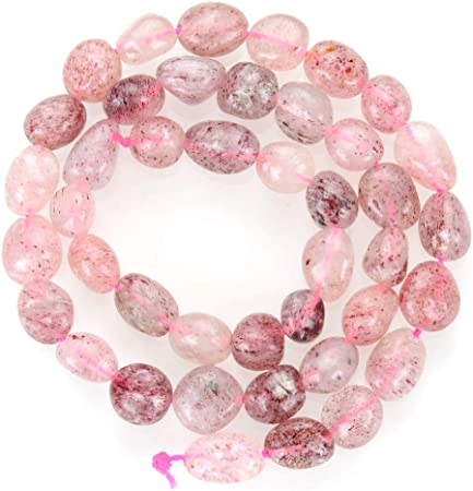 DIY Handmade Natural Strawberry Crystal Beads Bracelet  Jewelry Making Accessories for Earrings Bracelets Necklace