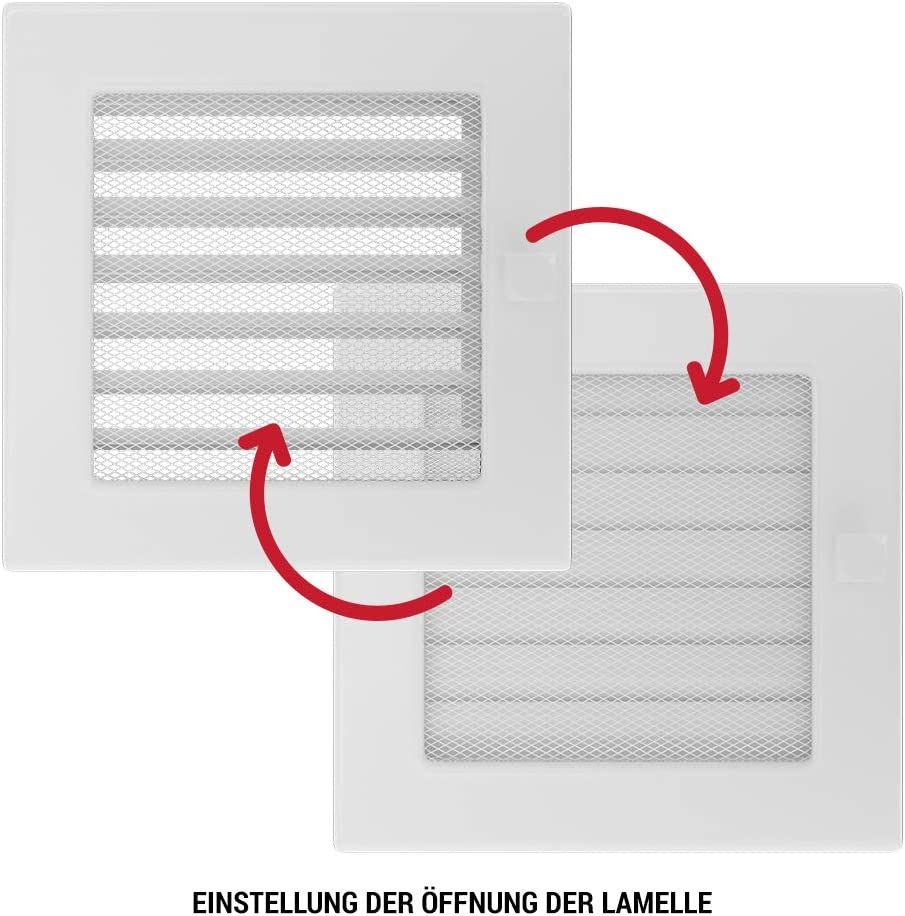 Kratki rejilla de ventilaci/ón Chimenea rejilla 17/cm x 49/cm kremig con persianas
