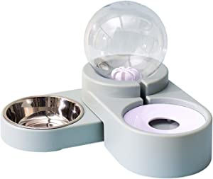Double Dog Bowls Cat Bowls,Water and Food Bowls with Pets Automatic Water Dispenser