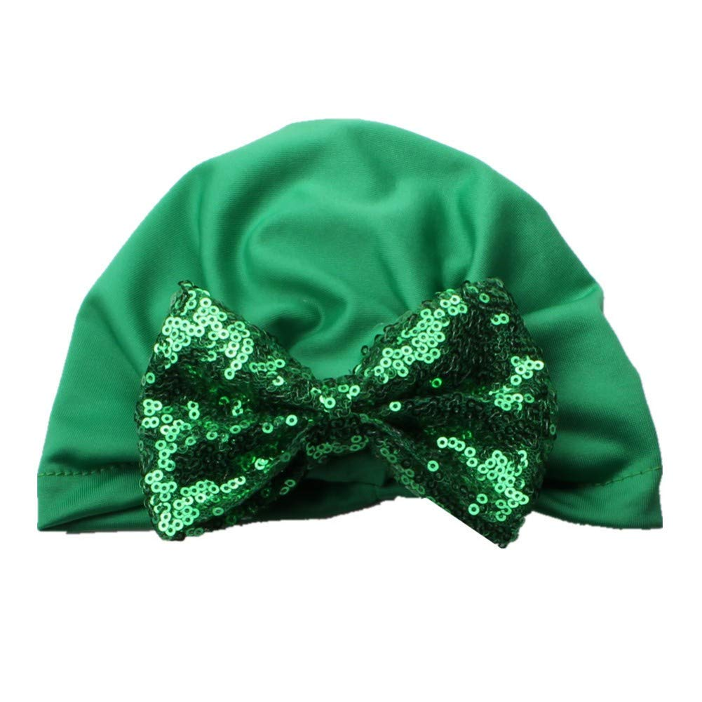 Baby Cap Toddler Sequin Bowknot Beanie Headwear Turban Hat Girl Fashion Soft