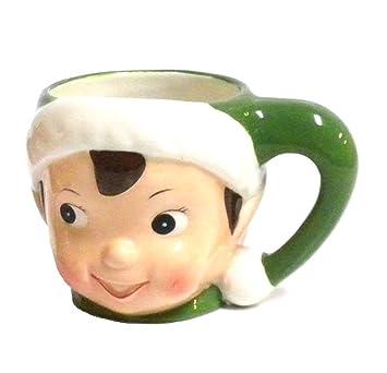 vintage style retro christmas elf coffee mug green - Christmas Coffee Cups