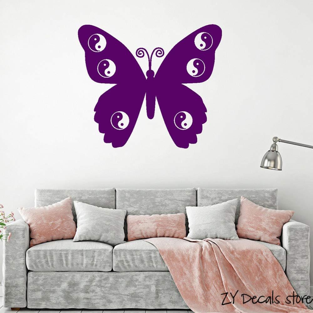 zqyjhkou Zen Butterfly Yin Yang Tatuajes de Pared Meditación Yoga ...