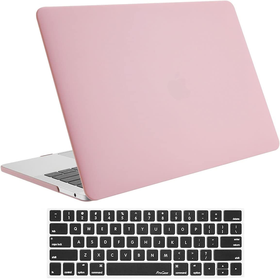 ProCase MacBook Pro 13 Case 2019 2018 2017 2016 Release A2159 A1989 A1706 A1708, Hard Case Shell Cover and Keyboard Skin Cover for MacBook Pro 13 Inch with/Without Touch Bar –Pink