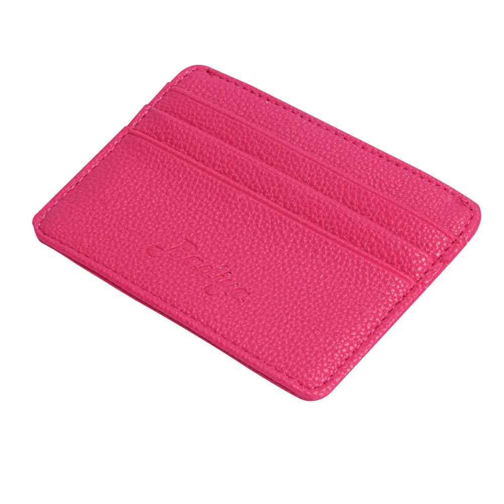 Badiya Front Pocket Wallet Minimalist Slim Wallet Thin Card Holder Genuine Leather