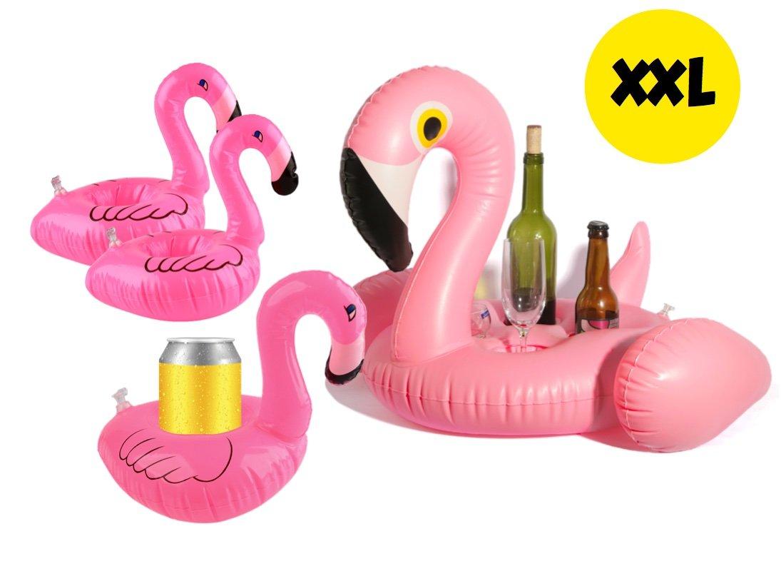 XXL 1x SET inflable piscina beben titular de Pelikan colchón de aire de tamaño natural de animales flotantes para la piscina, lago y playa, animal con agua ...
