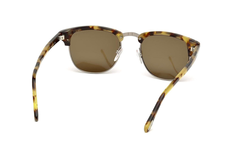 f7808170ddb Tom Ford FT0248 Henry Sunglasses 53 55J Coloured Havana Roviex at Amazon  Men s Clothing store