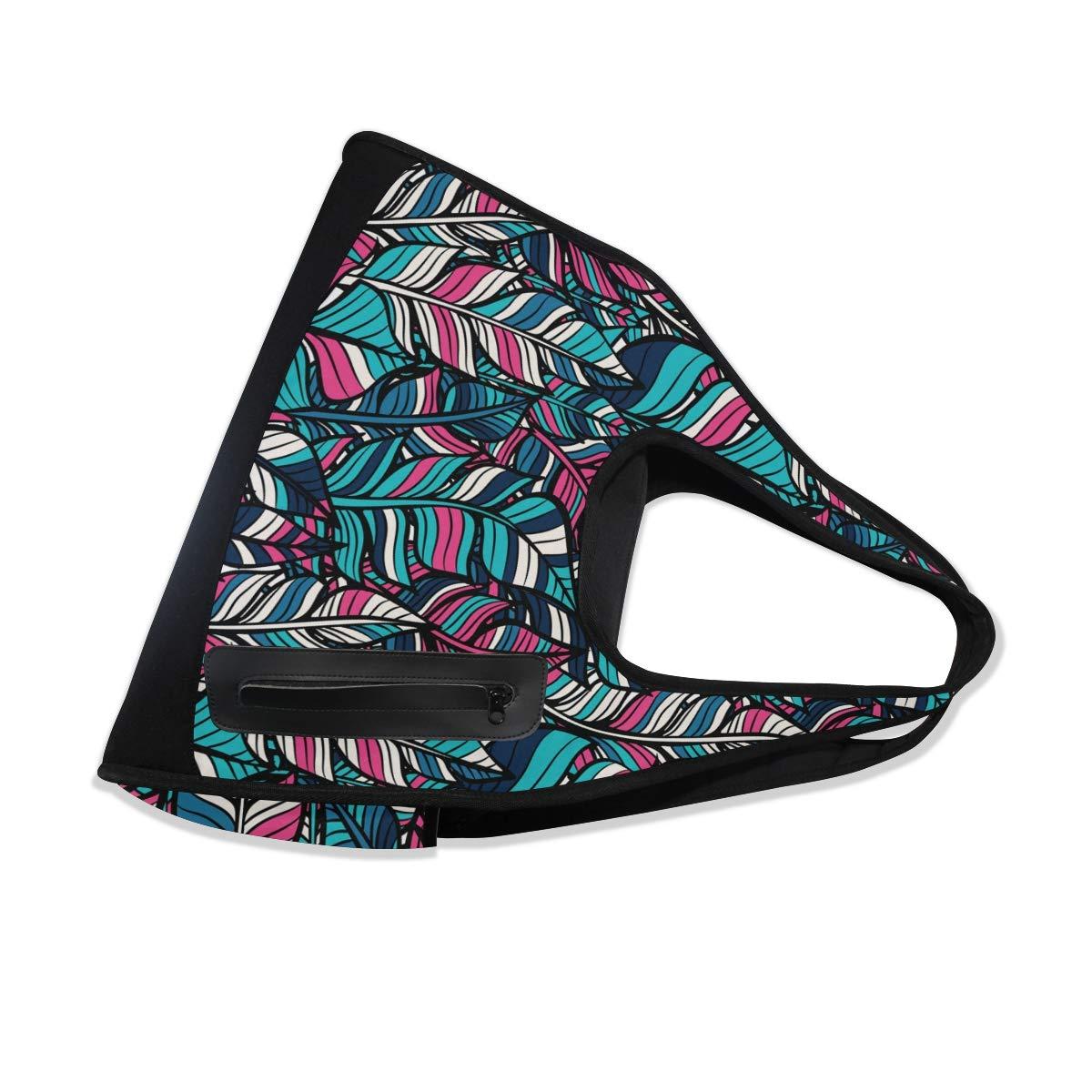 Boho Feathers Pattern Women Sports Gym Totes Bag Multi-Function Nylon Travel Shoulder Bag