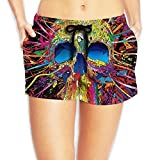 PPANFKEI Hippie Hip Hop Stretch Womens Boardshorts Swim Trunks Tropical Workout Board Shorts Swimming Trunks