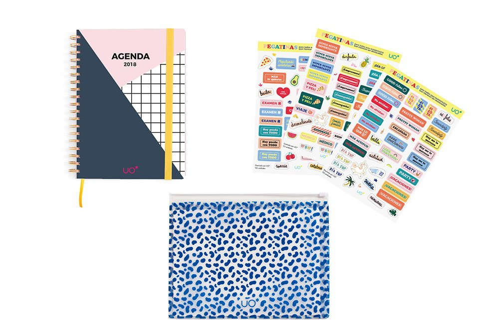 UO KTAG18ED2 - Kit agenda 2018 con diseño Actitud, stickers ...