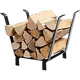 DOEWORKS 20 Inches Indoor/Outdoor Decorative Firewood Rack Log Carrier, 2018, Black