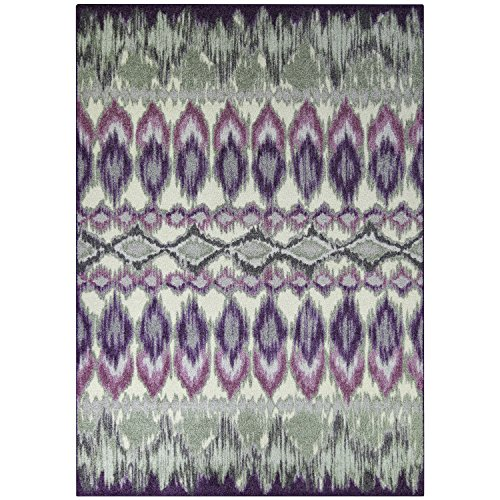Maples Rugs Nessa Area Rug, Wineberry/Lily Pad, 5' x 7'