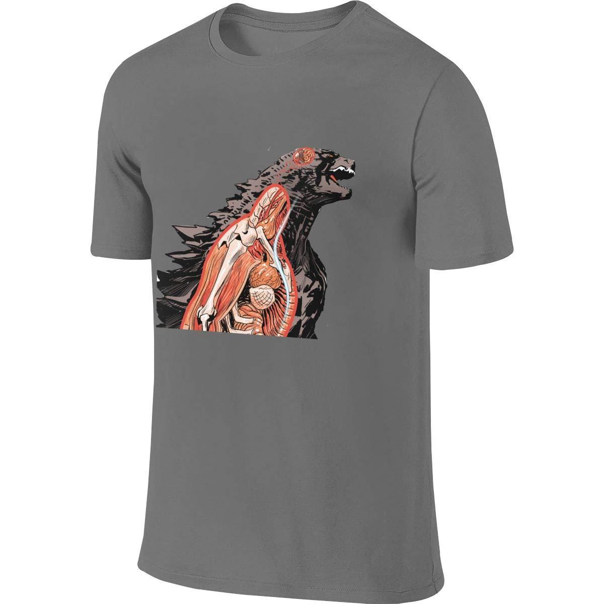 KAMEOR Mens Designed Novelty Tee Shirt Godzilla Internal Organs T Shirt