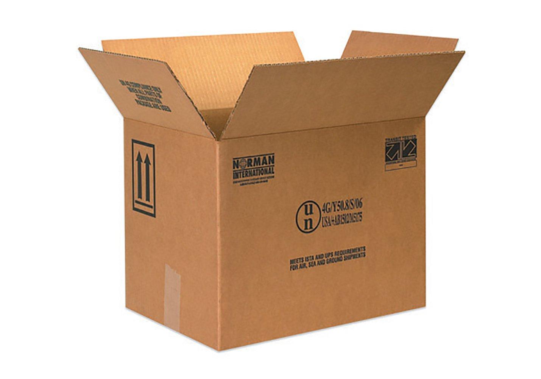 RetailSource B161112HM480 Hazmat Box, 12.375'' Height, 11.375'' Width, 16.375'' Length, Brown (Pack of 480)