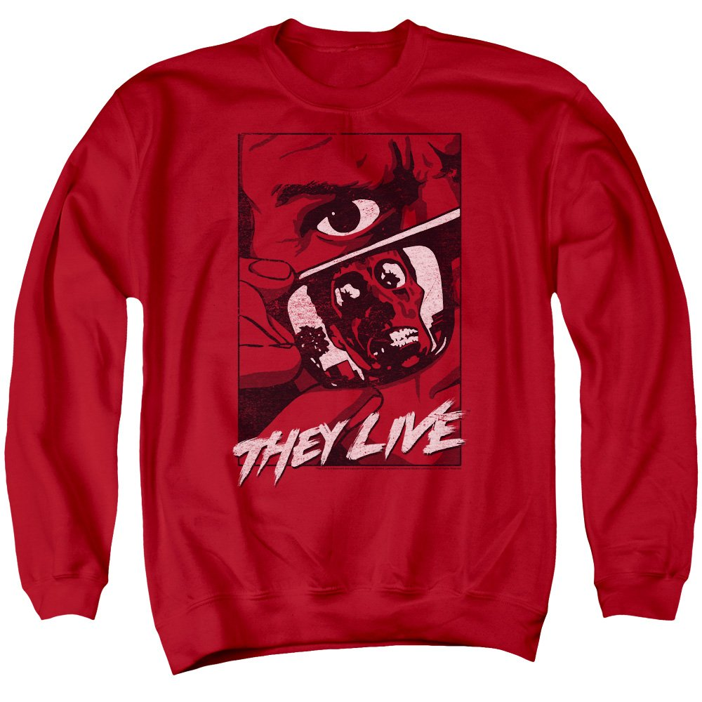 They Live Mens Graphic Poster Sweater