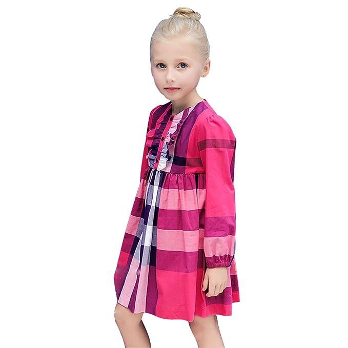 Free Fisher Vestido Divertido Infantil para Niñas Casual Fiesta, 9 ...