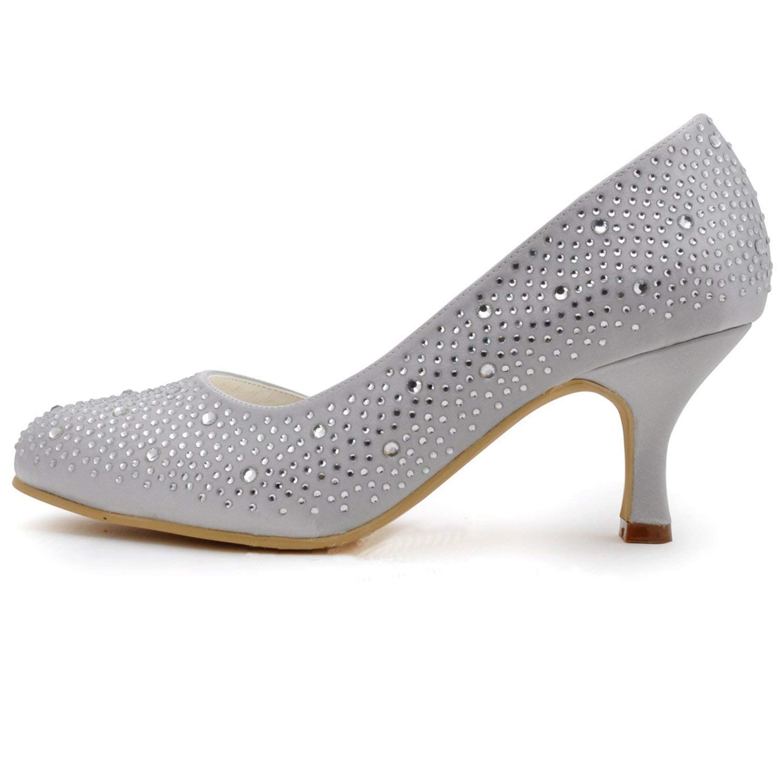 ZHRUI GYMZ712 Frauen Frauen Frauen Sparkle Weiß Satin Abend Party Prom Braut Hochzeit Schuhe Pumps Sandalen Flatfs UK 7.5 (Farbe   -, Größe   -) b7393e
