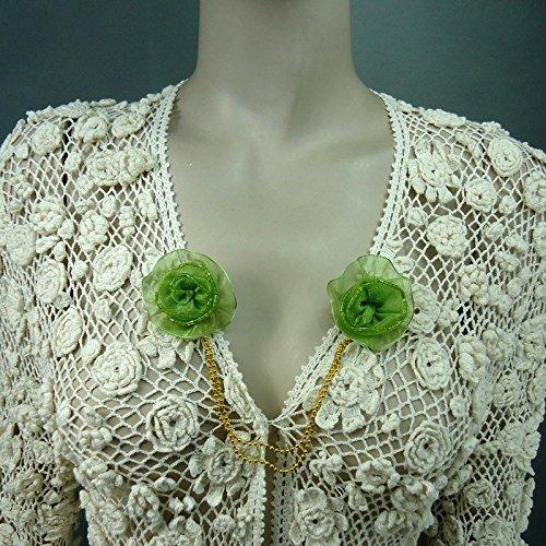 Original hand-made three-dimensional flowers female lapel collar pin brooch pin shawl collar Korea imported clip