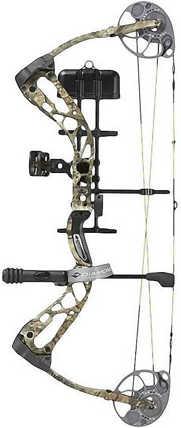 Diamond Archery 2016 Edge SB-1 Compound Bow Package 15-30 Draw Length 7-70 lb Adjustable Weight Perfect for Hunting Comes in Black Breakup Country Available in Right Left Hand