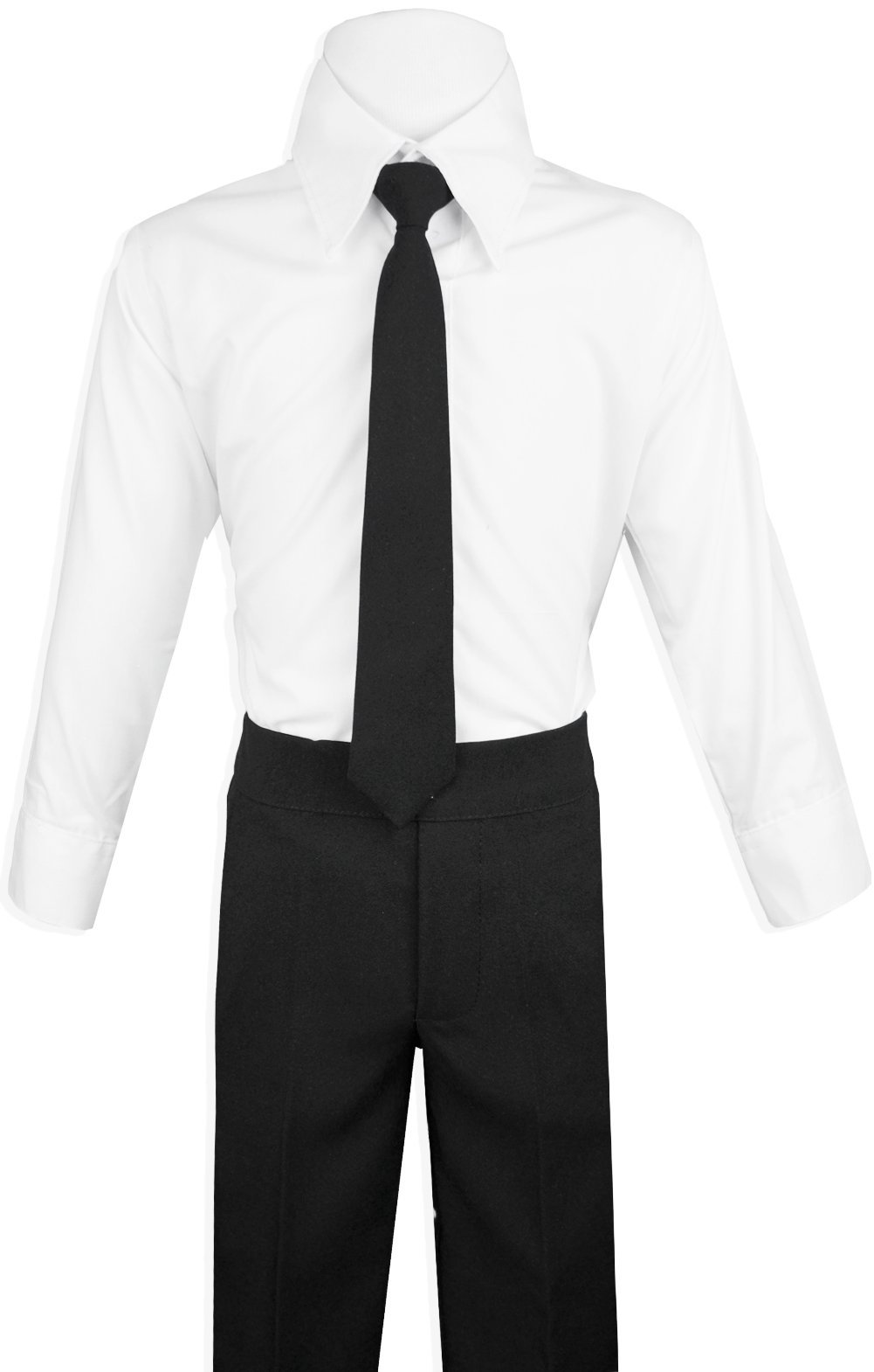 Boys Black Tuxedo Suit with Tie Young Boys Youth Size 16 by Black n Bianco (Image #3)