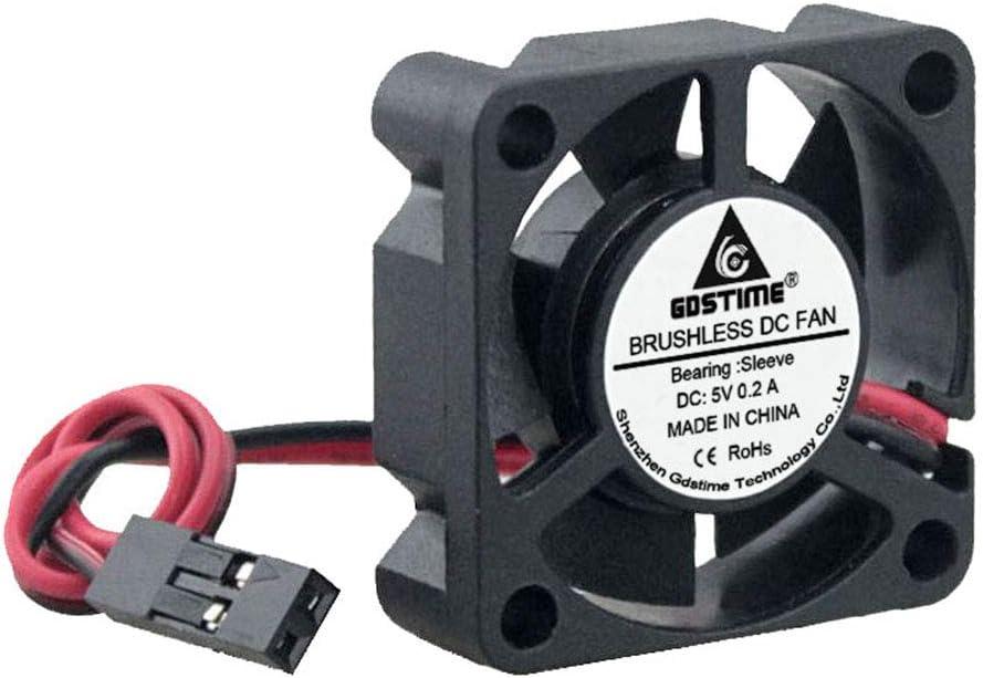 GDSTIME Dupont Connector 30mm x 30mm x 10mm 3010 5V DC Brushless Cooling Fan