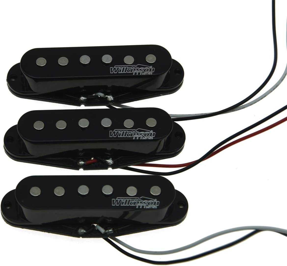 Wilkinson LIC Black ST Strat Vintage Voice Single Coil Pickups Fits Stratocaster