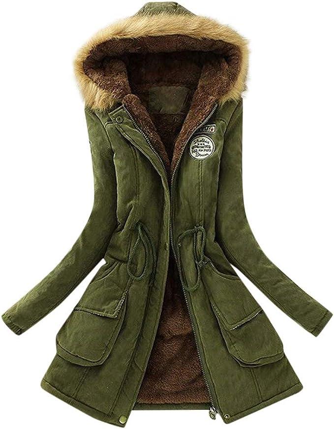 Women/'s Warm Coat Jacket Outwear Trench Winter Hooded Long Parka Overcoat Tops #