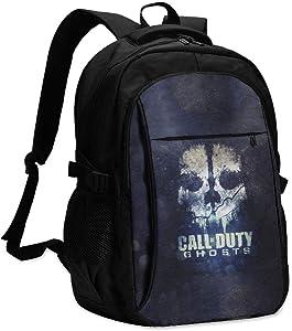 "Unisex Adult 17"" USB Backpack Call Ops Duty Multipurpose Daypacks Stylish Womens Knapsack for School"