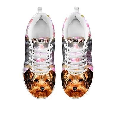 Kid's Sneakers Terrier Cute Yorkshire Terrier Sneakers Print Kid's fb4cb6