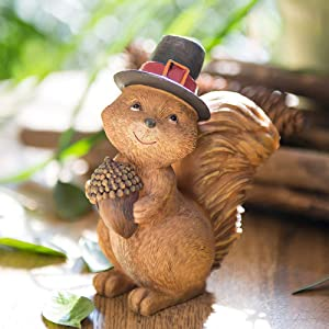 Statues Sculpture Figurines Statuettes,Creative Resin Cartoon Cute Squirrel And Pinecone Abstract Animal Figurine Sculpture Collectible,Ornaments Desktop Crafts Art Décor Statuettes For Indoor Livi