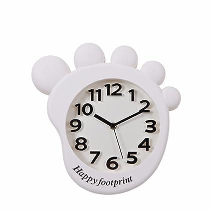 QPGGP-Reloj de pared Cute Cartoon Watch Reloj Especial Niños Habitación Dormitorio Tranquilo Salon Dormitorio