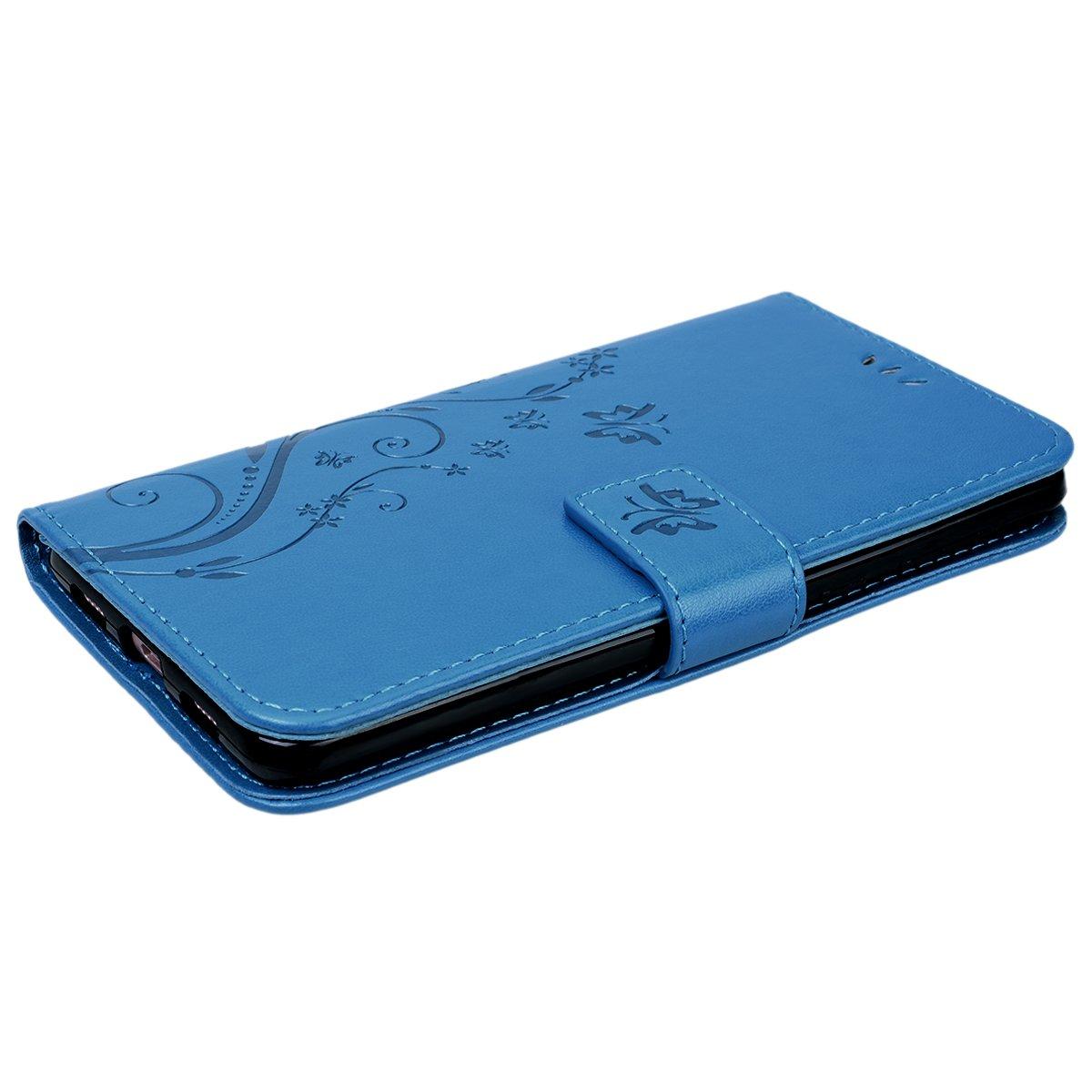 Gold VemMore Huawei Honor 6X H/ülle Handyh/ülle Schutzh/ülle Leder PU Wallet Flip Case Bumper Lederh/ülle Ledercase Schmetterling Blumen Muster Klapph/ülle Ultra Slim D/ünn Klappbar Magnetisch Backcover