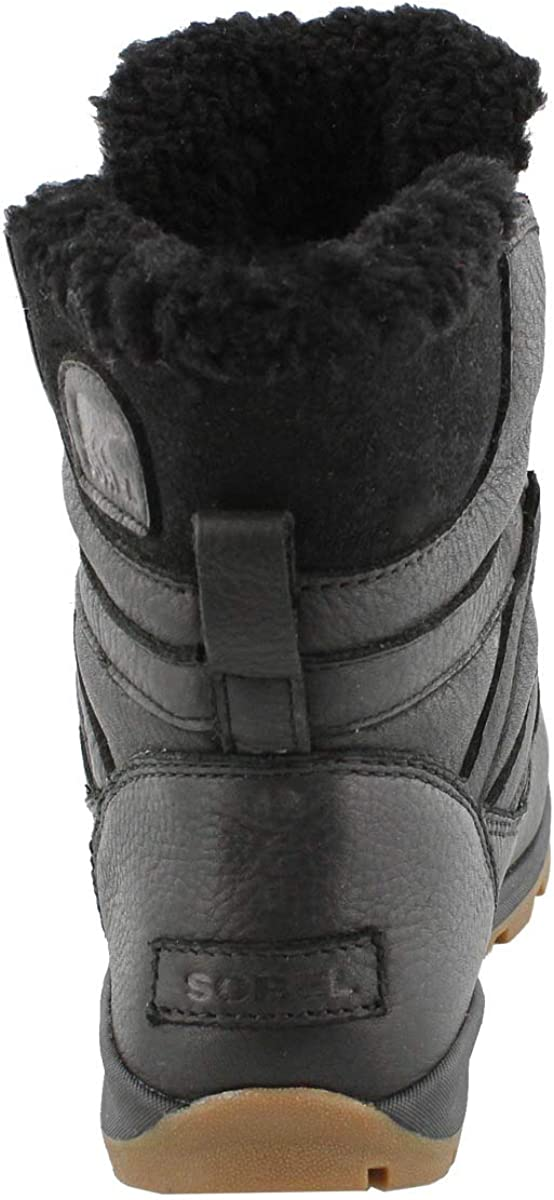 Sorel Women's Whitney Short Lace Premium Walking Shoe Black