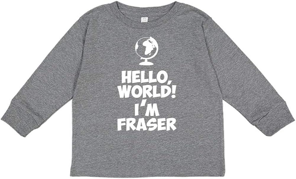 World Mashed Clothing Hello Im Fraser Personalized Name Toddler//Kids Long Sleeve T-Shirt