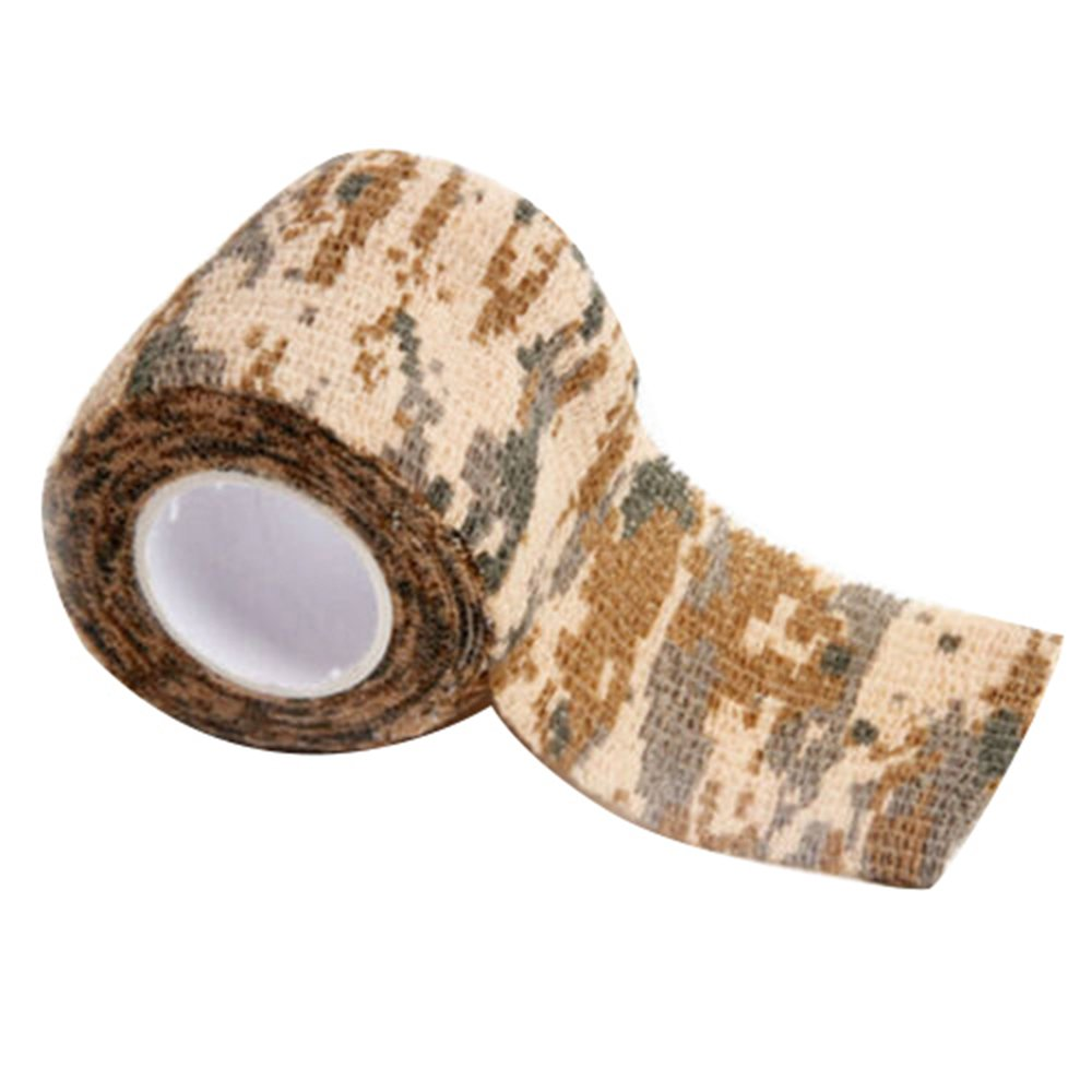 Gilroy 5CM X 4.5M Outdoor Camo Camouflage Wrap Tape for Hunting Rifle Gun Cycling Tool - Yellow