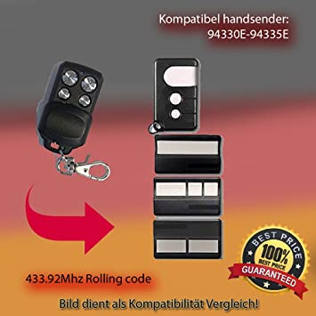 ersatz sender 433.92Mhz rolling code Nice ON1E // Nice ON2E // Nice ON4E kompatibel handsender Top Qualit/ät ersatzger/ät!!!