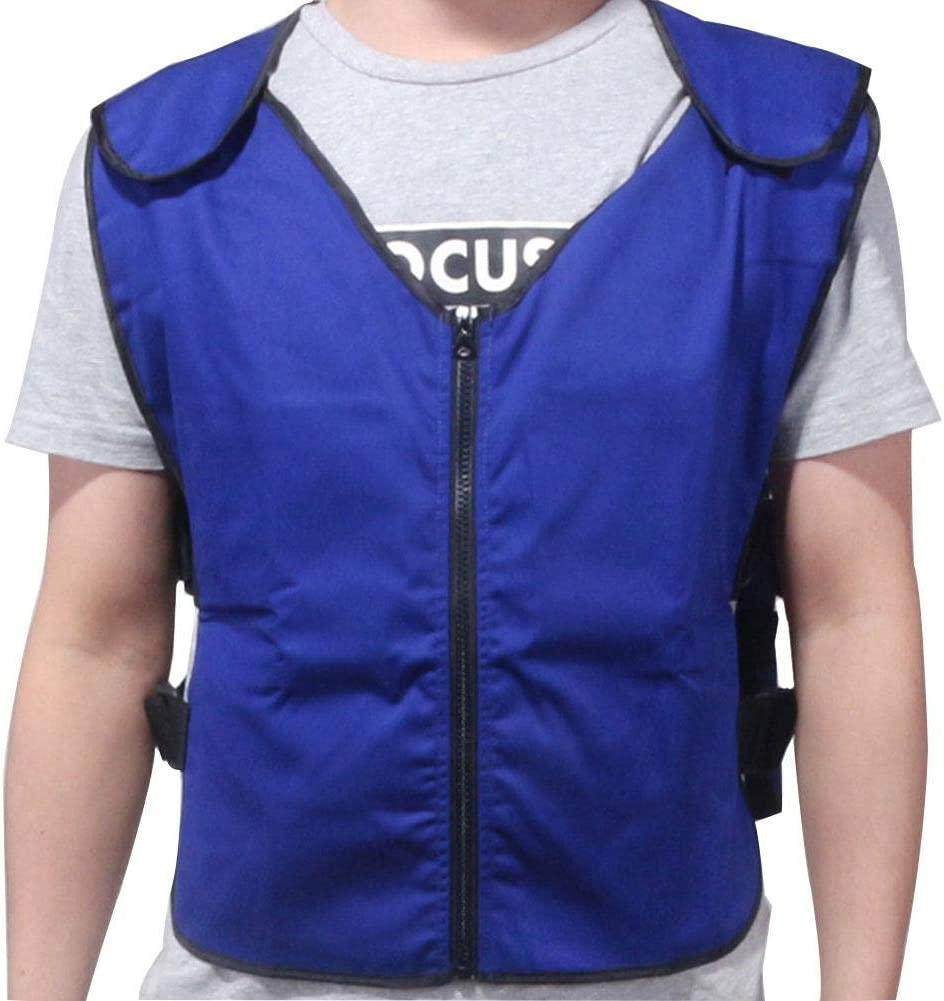 Settlede Sports Cooling Vest, Summer Ice Cooling Vest for Men Women for Cycling Outdoor Activity High Temperature Sunstroke Protective Clothing, Blue