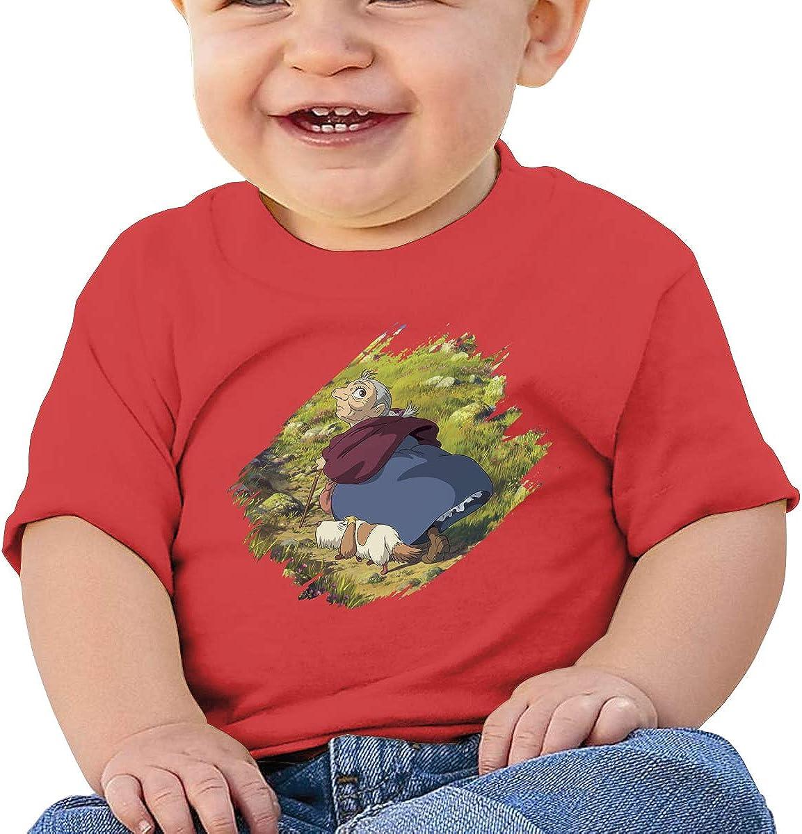 Wokeyia Baby Howls Moving Castle Ghibli Studio Black Tshirts Cute T Shirt for Baby Girl
