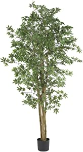Nearly Natural 5297 Japanese Maple Silk Tree, 6-Feet, Green