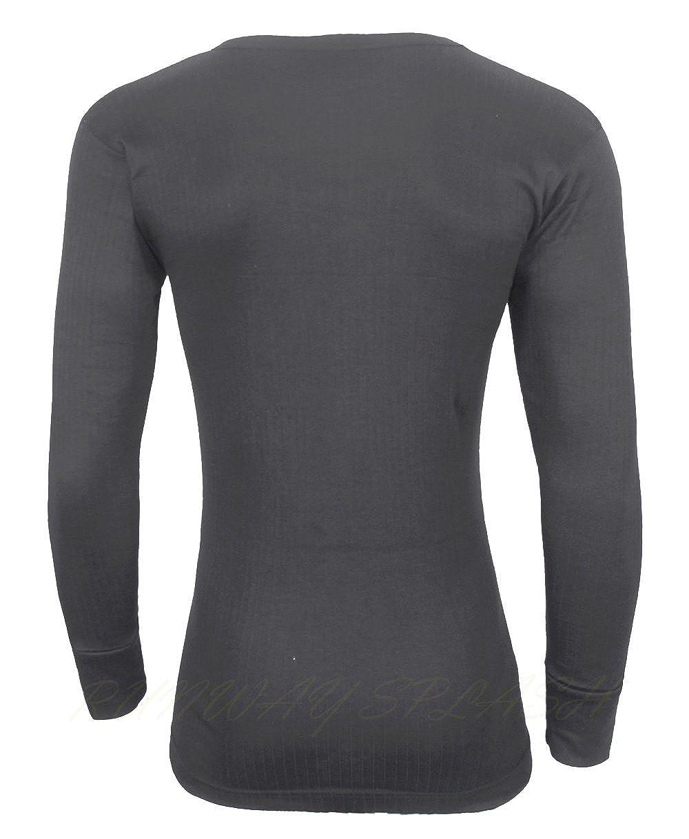 Mens Gents Inner Thermal Underwear T Shirt Short Sleeved Vest Top Size M L XL