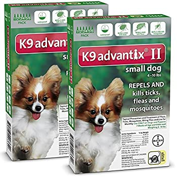K 9 Advantix 12 MONTH Green For Dogs Up To 10lbs